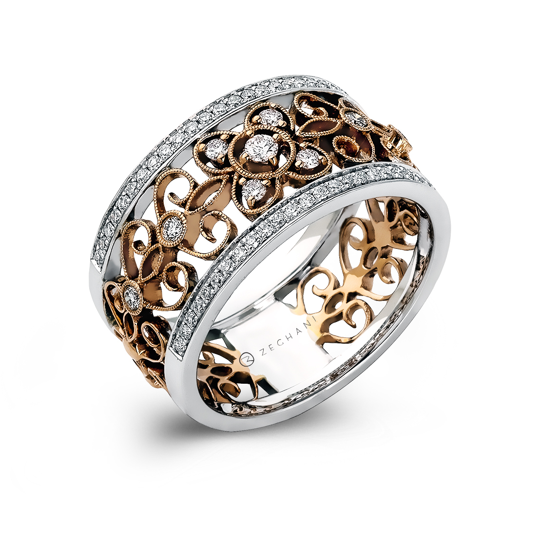 front diamonds bands total gold with ladies weight carat karat of white band wedding product